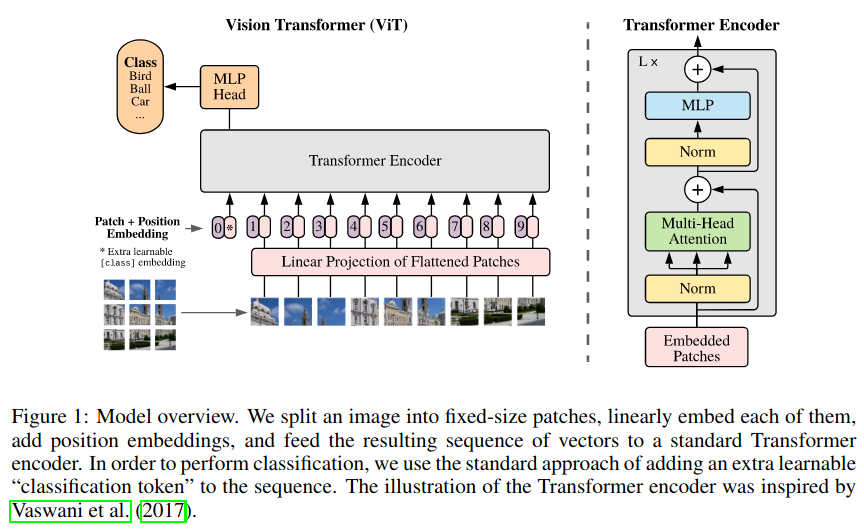 Vision Transformer from https://arxiv.org/abs/2010.11929